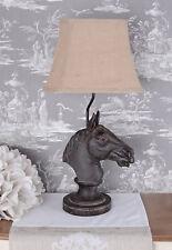 Nachttischlampe Pferd Leuchte Landhausstil Tischlampe Hengst Pferd Tischleuchte