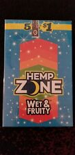 15 Pack Hemp Zone Wet & Fruity-75 Wraps Rillo Size with Free Tube & Scoop Card