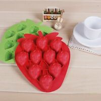 Silicone Strawberry Mold Cake Cookie Chocolate Cutter Ice Mould Bake Decor Tools