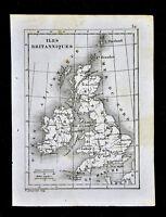 1835 Levasseur Map - British Isles - Great Britain & Ireland - England Scotland