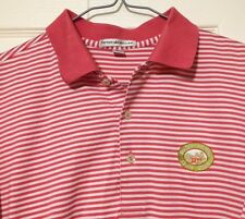 Peter Millar Polo Shirt Medium Bull's Bridge Golf Club Pink Cotton