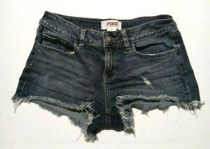 Women's Victoria's Secret Pink Size 4 Cut Off Jean Shorts Distressed Raw Hem