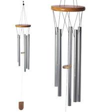 Metal & Madera Carillón de viento | Ventana Chime Jardín Decoración | Colgante Campanas | 4 Tamaños