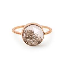 Solid 18k Rose Gold Genuine Loose Diamond Gemstone Shaker Ring Handmade Jewelry