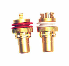 2pair RCA Jack Audio Female Gold Plated Connector CMC 805-2.5FG Swiss Cu