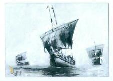 """SHIPS """"SCENIC SKETCH CARD BY CHARLES HALL"""" GAME OF THRONES SEASON 8"""