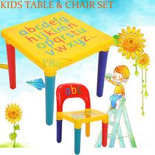 Kids Learning Preschool Alphabet Table Sets Educational Children Toddler Home UK