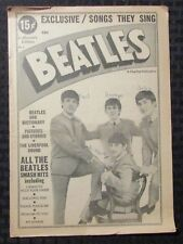 1964 BEATLES Exclusive Songs They Sing Charlton #1 GD+ 2.5 Jive Dictionary