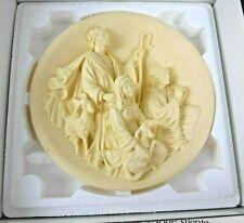 Vtg Studio Dante Di Volteradici Christmas Creche Notte Silente Alabaster Plate