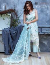 Pakistani Indian printed neckline embroidered Lawn Cotton salwar Kameez suits