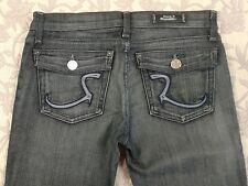 Rock Republic Jean Woman's 27 Kurt Purple Thread Flap Pocket Flare Boot Cut
