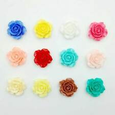 DIY 20pcs Mix Resin Rose Flower Flatback Appliques For phone/wedding/craft Top