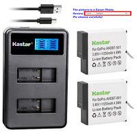 Kastar Battery Charger GoPro HERO5 Gopro5 GoPro AHDBT-501 AHBBP-501 Sport Camera