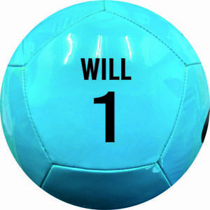 PERSONALISED PRINTED NIKE PITCH TEAM 21 FOOTBALL  size 5 BLUE 1or2 PANEL PRINT