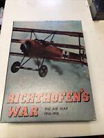 Richthofen's War Bookcase Game Avalon Hill Vintage 1972