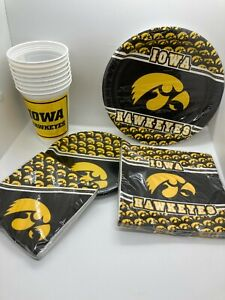 Iowa Hawkeye Party Pack- Go Iowa Hawkeyes! Setting for Eight People