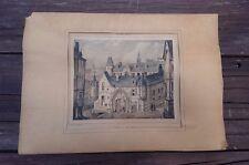 """OLD 1840 LE VIEUX PARIS No.59 """"L´HOTEL DE SENS-1509"""" COLORED LITH. DE FOURQUEMIN"""