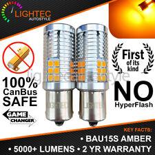 2x BAU15S PY21W 30SMD AMBER LED CANBUS TURN SIGNAL INDICATOR LIGHT BULBS ORANGE