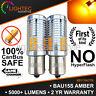 2x BAU15S PY21W 581 AMBER LED CANBUS TURN SIGNAL INDICATOR LIGHT BULBS ORANGE UK