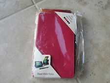 RooCase Google Nexus 7 FHD Leather DualView Folio Case BOOK Stand PINK