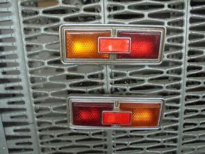 Fiat 124 Special 1° Series Pair Lights Rear Full New