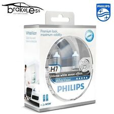 AMPOULES PHILIPS Blanc Vision H7 12V 55W + 60% 3700K + 2 LAMPES W5W EMPLACEMENT