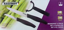 Kaiserhoff Keramik Messerset 3-TEILIG (Schälmesser, Universalmesser und Schäler)