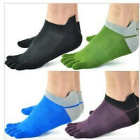 Hot Sale 5 pairs new men's socks pure cotton sports five finger socks toe socks
