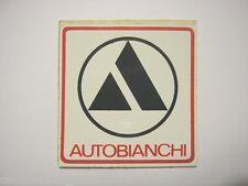 VECCHIO ADESIVO AUTO anni '80 / Old Sticker AUTOBIANCHI (cm 8,5 x 8,5)