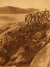 Edward Curtis  Old Stone House  Diomede - 1928 Vintage Large Format Photogravure