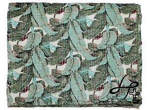 Cotton Kantha Quilt Indian Handmade Bedspread Green Color Ralli Hippie Coverlet