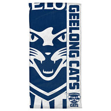 Geelong Cats AFL Hat Cap & Microfibre Gym Towel Christmas Gift Sports Pack