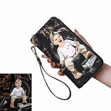 Personalized custom Women's Wallet Print photos Both Sides of  Phone bag Leather