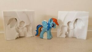 4cm 3D MY LITTLE RAINBOW PONY SILICONE MOULD FOR CAKE TOPPERS CHOCOLATE CLAY ETC