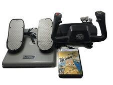 CH Products Flight SIM Yoke FSY211U & CH Products USB Pro Pedals PPU995 + Game