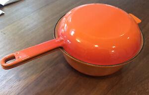 Cousances 18 (Le Creuset)Cast Iron 2-in-1 Saucepan & Skillet Lid Volcanic Orange