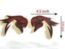 2X Red Black HELLHAWK TRACKHAWK GRAND CHEROKEE Racing Emblem Badges For Jeep