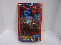 Marvel Comic Spider-Man Carnage w/ Spider Trapping Toy Biz Action Figure (2004)