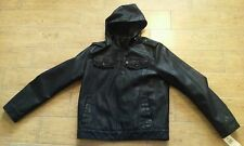 Levis Faux-Leather Fishermen Jacket Black Men's Size Small