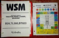 Kubota B26 Tractor Loader Backhoe Service Repair Workshop Shop Manual Original!