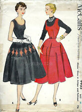 Vintage 1950s McCalls 9955 Full Skirt Dress Jumper & Petticoat Pattern 36B sz 18