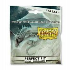 SIDE LOAD Dragon Shield 100 -Perfect Fit Deck Protector Sleeves -Clear- MTG