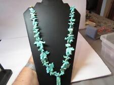 VINTAGE STACKED Animal TURQUOISE  FETISH  Necklace