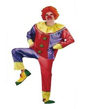 Mens Clown Costume Jester Joker Fancy Dress Halloween Party