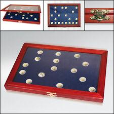Safe Münz-Vitrinen mit runden Vertiefungen für 24 x 20€-Münzen in Kapseln (5867)