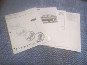 1995 FORD ASPIRE SALESMANS DEALERSHIP DEALER ALBUM BROCHURE SHEETS SET