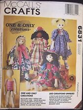 "1993 McCall's Crafts Pattern # 6831 One and Only Creations 27"" Bottle Dolls"