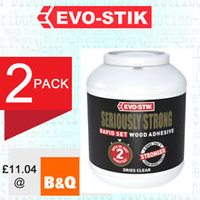 2 x Evo Stik Seriously Strong Strength Rapid Fast Set Wood Glue Resin Adhesive