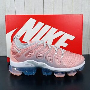 """Nike Air Vapormax Plus Womens Size 8 Running Shoes """"Bleached Coral"""" AO4550-603"""
