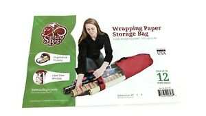 Gift Wrapping Paper Storage Containers - Holds 12 (40-Inch Long) Rolls New